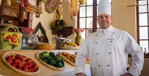 Busch Gardens Tampa Food Wine Festival Chef with produce