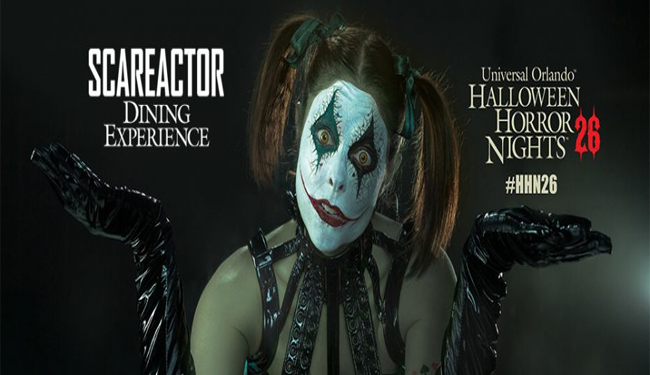 Chance ScareActor Dining Experience HHN 2016