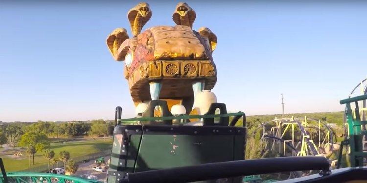 Cobras Curse Busch Gardens ride view of snake mouth