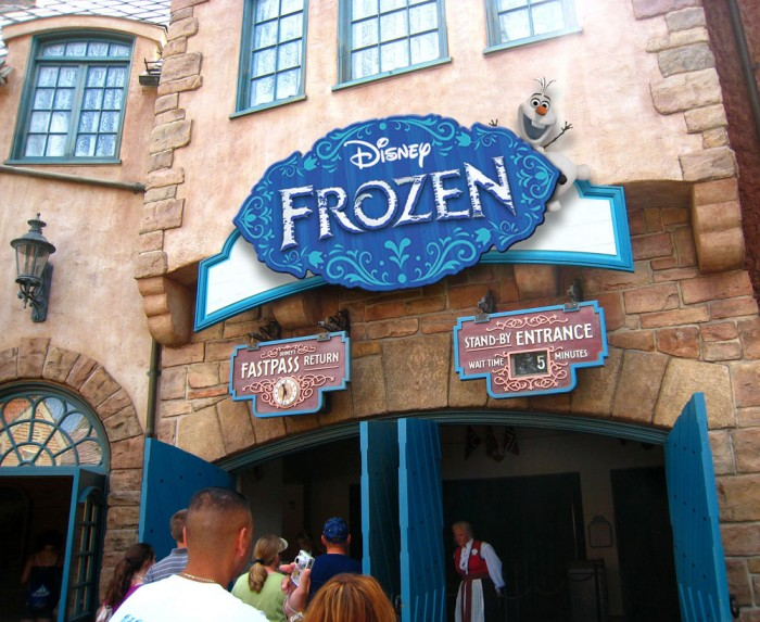 Frozen Ever After Epcot ride entrance view