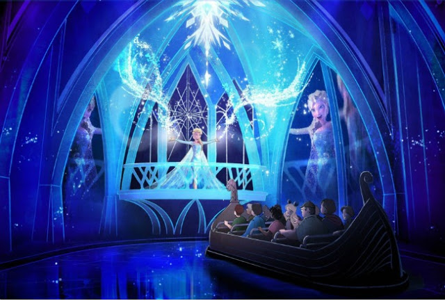 Frozen Ever After Epcot ride interior view