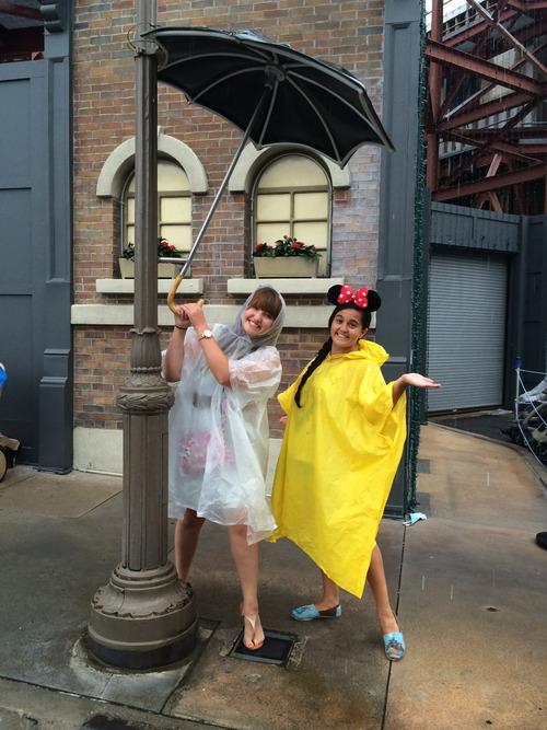 Girls with Umbrellas at Disney