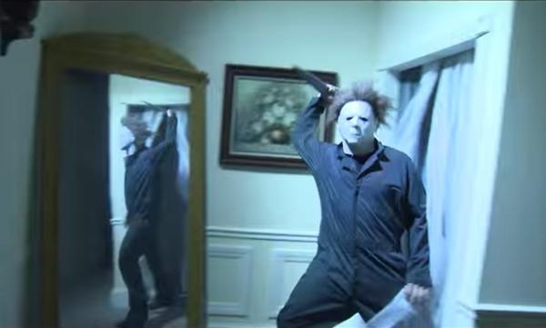 Michael Myers in Hell Comes to Haddonfield House at HHN