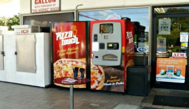 Pizza Touch Vending Machine in Gas Station