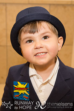 Runway to Hope Spring Soiree 2016 boy with hat