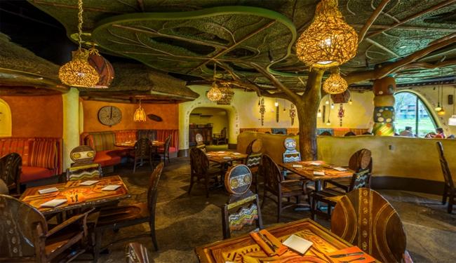 Sanaa Restaurant dining area