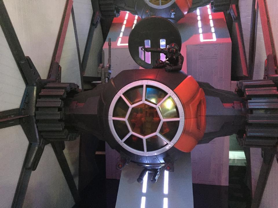WDW HS Star Wars Land First Order Dark Ride Hatch
